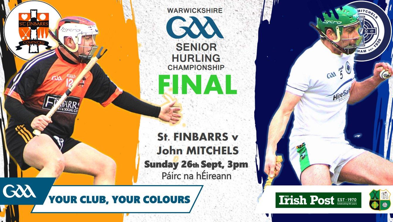 SHC Final John Mitchels v St Finbarrs Sunday 26th September 3pm